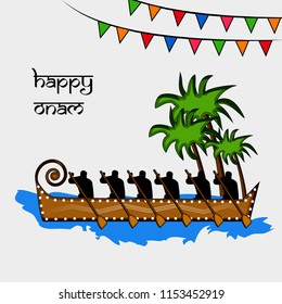 Illustration of background for the ocassion of Hindu festival Onam celebrated in India