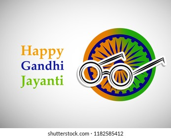 Illustration of background for the Occasion of Indian festival Gandhi Jayanti