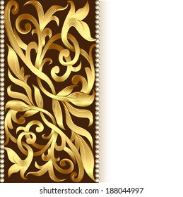 illustration of the background and ornament of gold for invitations