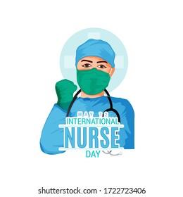 illustration of a background or Poster for International Nurse Day.