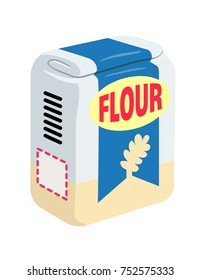 illustration of a bag of flour
