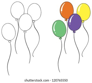 illustration of a balloon sketch on a white background
