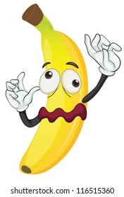 illustration of a banana on a white background