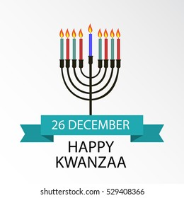 illustration of a Banner For Happy Kwanzaa.