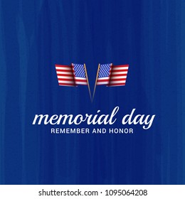 Illustration Banner Or Poster Of Happy Memorial Day.