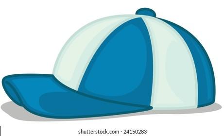 illustration of a baseball cap, vector, scalable, EPS