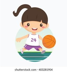 Girls Basketball Images, Stock Photos & Vectors | Shutterstock