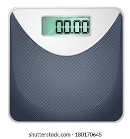 Illustration of a bathroom scale on a white background