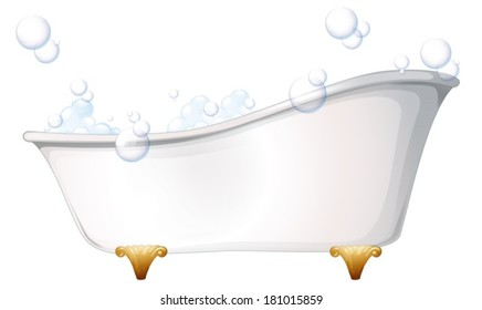 Illustration of a bathtub on a white background