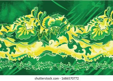 Illustration batik pattern from malaysia