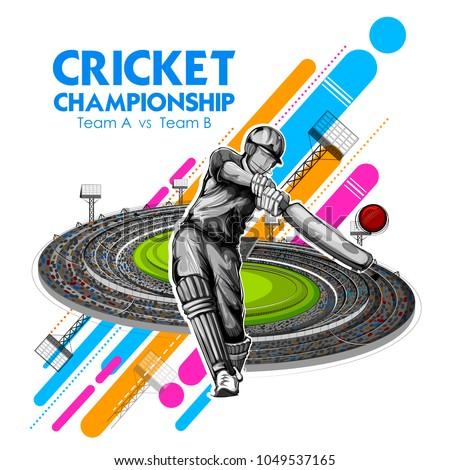 illustration of batsman playing