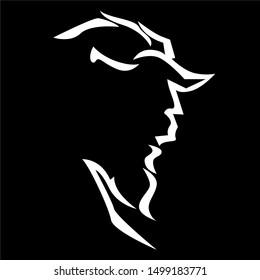 illustration of Beast, sticker,tshirt print, vector illustration