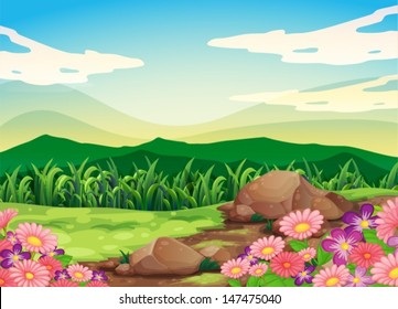 Illustration of a beautful scenery