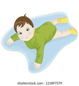 Illustration of a beautiful baby smiling