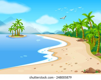 beach cartoon images stock photos vectors shutterstock rh shutterstock com cartoon pictures beach scenes cartoon beach pic