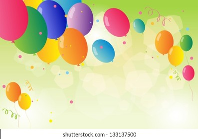 Illustration of the beautiful colorful balloons