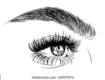 illustration of beautiful female eye