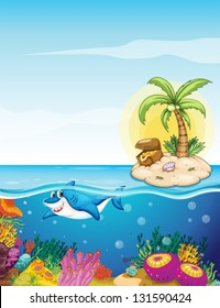 Illustration of the beautiful underwater creatures