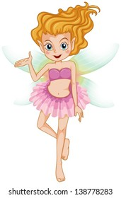 Illustration of a beautiful young fairy on a white background