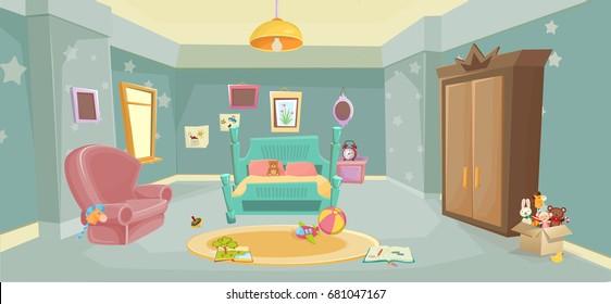 Bedroom Kid Stock Vectors Images Vector Art Shutterstock