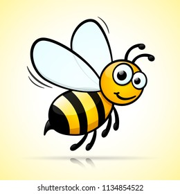 Illustration of bee design on white background