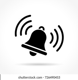 Illustration of bell icon on white background