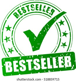 Illustration of best seller stamp icon on white background