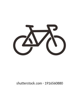 illustration of a bicycle icon or logo in a flat style