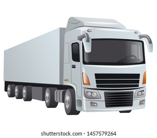 illustration of the big truck on the white background