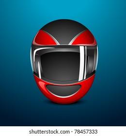 illustration of bike helmet on abstract background