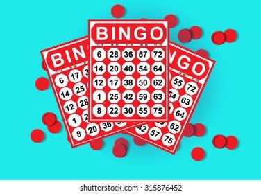 illustration of bingo card game