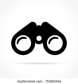 Illustration of binoculars icon on white background