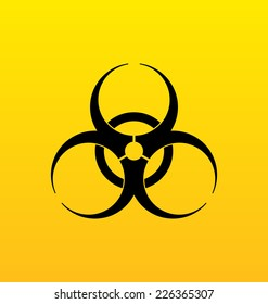 Illustration bio hazard sign, danger symbol warning - vector