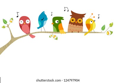 Bird On Tree Images Stock Photos Vectors Shutterstock