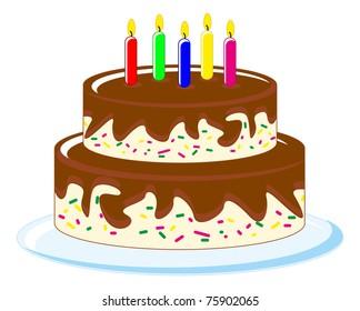 illustration of birthday cake