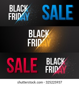 Illustration of Black Friday Sale Vector Exlosion Banner Template. Huge November 27th Sale Background