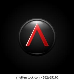 illustration of  black spartan shield