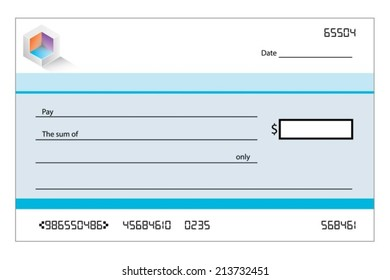 An Illustration of a blank bank cheque