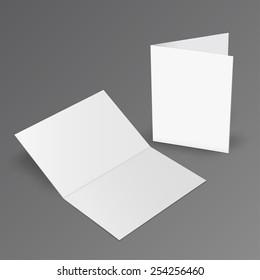 Illustration of Blank brochure. 3d illustration