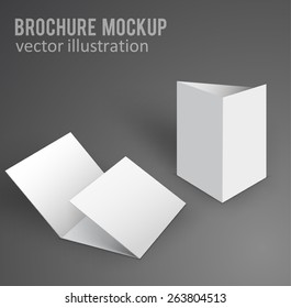 Illustration of Blank brochure. 3d illustration