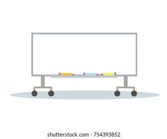 illustration of blank whiteboard