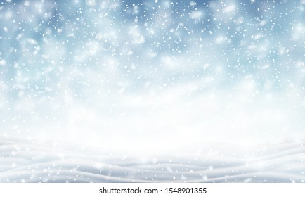 Illustration of blizzard, background for christmas and new year greeting cards, invitation for winter holiday season. EPS 10 contains transparency