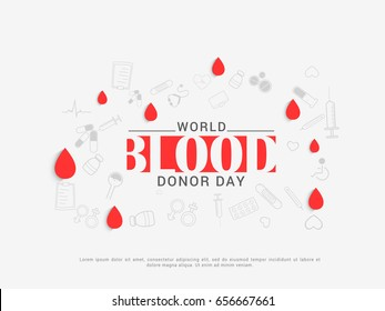 Illustration Of Blood Donate Concept For World Blood Donor Day,Poster Or banner Design template.