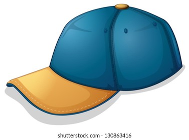 Illustration of a blue cap on a white background