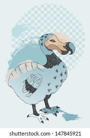 Illustration of blue Dodo