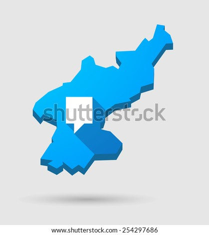 Illustration Blue North Korea Map Tooltip Stock Vector (Royalty Free