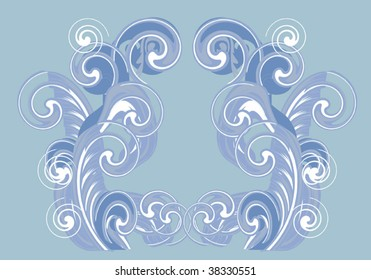 illustration with blue and white abstract background