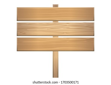 Illustration board of wooden boards with wood grain. Title background, catch copy banner background material, information board, instruction arrow.