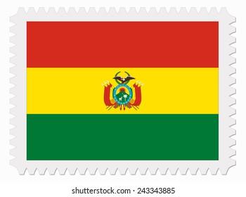 illustration Bolivia flag stamp