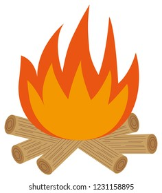 Illustration of bonfire